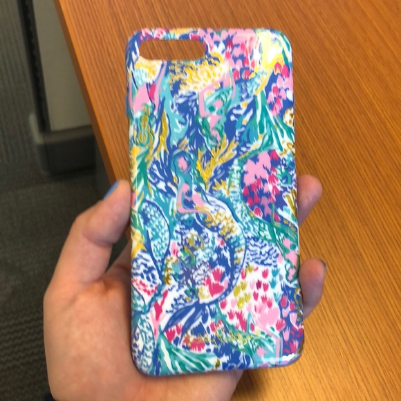 info for 3d4a4 340cd Lilly Pulitzer iPhone 7/8 plus mermaids cove case